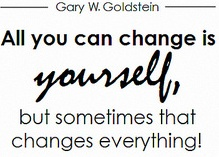 Allyoucanchangeisyourself
